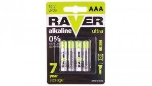 Bateria alkaliczna LR03 / AAA 1,5V RAVER ULTRA B7911 /blister 4szt./
