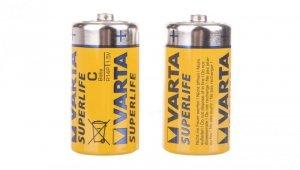 Bateria cynkowo-węglowa R14P / C /foliowane/ SUPERLIFE /2szt./