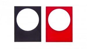 Tabliczka opisowa 30x40mm czarna/czerwona 22mm prostokatna ZB2BY2101