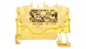 Złączka szynowa 2-przewodowa 1,5mm2 żółta 2001-1206 TOPJOBS