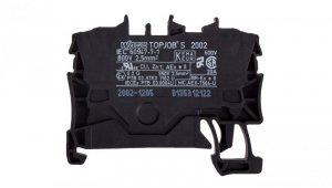 Złączka szynowa 2-przewodowa 2,5mm2 czarna 2002-1205 TOPJOBS