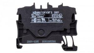Złączka szynowa 2-przewodowa 1,5mm2 czarna 2001-1205 TOPJOBS