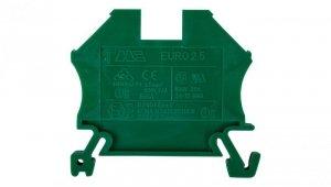 Złączka szynowa 2-przewodowa 2,5mm2 zielona EURO 43408GR