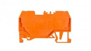 Złączka szynowa 2-przewodowa 2,5mm2 pomarańczowa 280-902