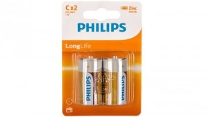 Bateria cynkowo-węglowa R14 / C 1,5V LongLife R14L2B/10 /blister 2szt./