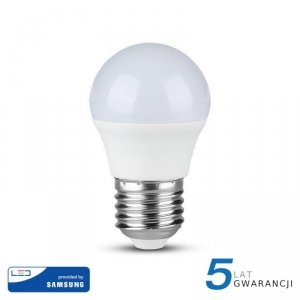 Żarówka LED V-TAC SAMSUNG CHIP 5.5W E27 G45 Kulka VT-246 3000K 470lm 5 Lat Gwarancji