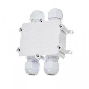 Puszka Złączka Mufa Hermetyczna Biała 4x 4Pin 0.5-4mm2 Średnica kabla 8-12mm IP68 V-TAC VT-871