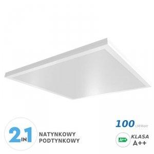 Panel LED V-TAC 40W Natynkowy/Podtynkowy 600x600x29 A++ 100lm/W VT-6142 6400K 4000lm