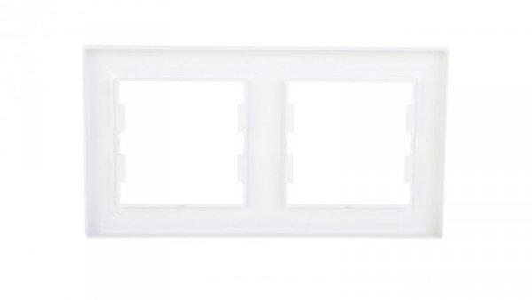 ASFORA Ramka podwójna pozioma biała EPH5800221