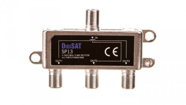 Rozgałęźnik sygnału RTV GN-3GN SP13 DigiSat 5-2400MHz 77-216#