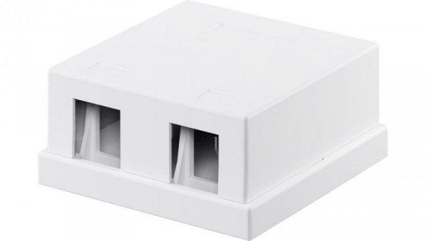 Pusta obudowa Keystone 2-port - umożliwia łatwy montaż metodą Snap-In 79366