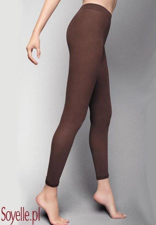 COTONE bawełniane legginsy, czarne i ciepłe