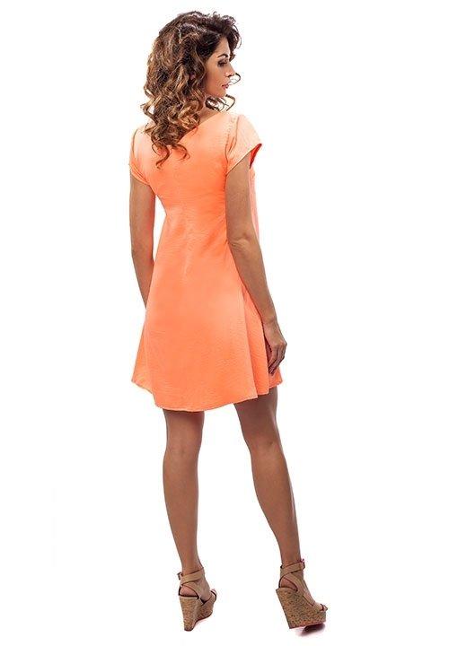 ENNY 190084 letnia sukienka w neonowym pomarańczu