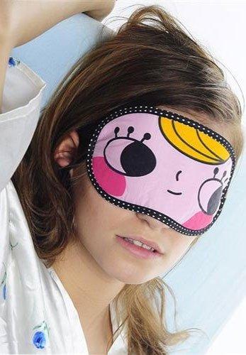 Opaska na oczy - śpij słodko :) - oczy szeroko otwarte