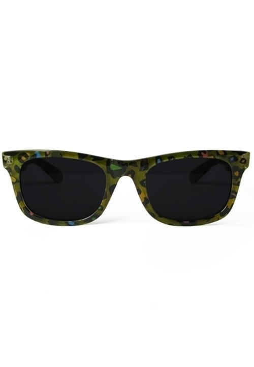 ŻYRAFA zielone okulary ze wzorami