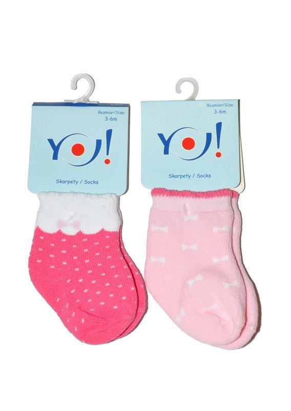 Skarpety YO! SKF Baby Girls Frotte 0-9 m-cy