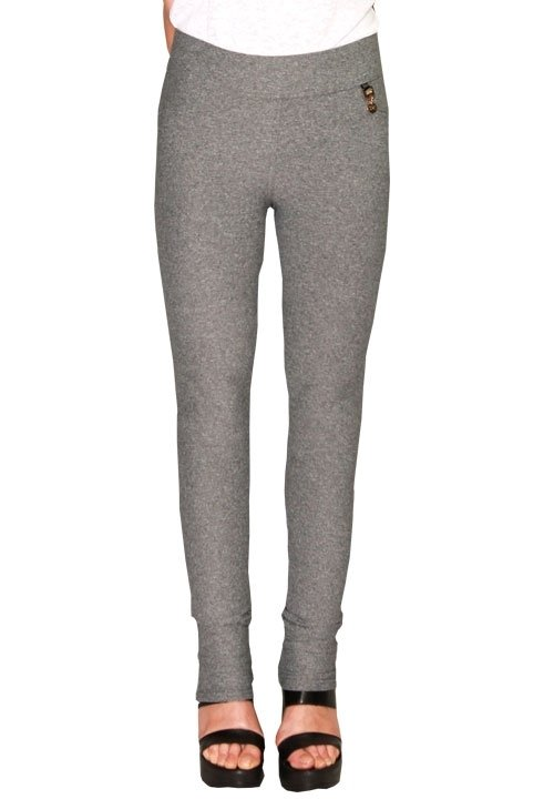DJUK 04 szare, melanżowe spodnie - legginsy