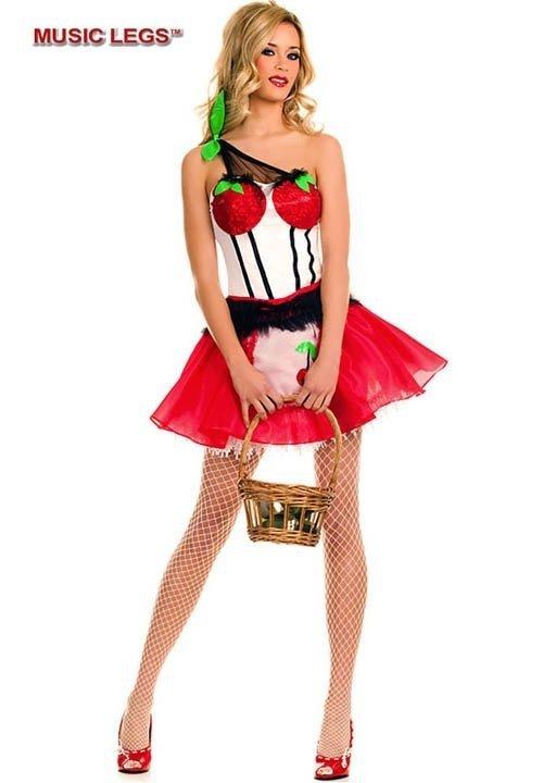 CHERRY PRINCESS sukienka - kostium z wisienkami
