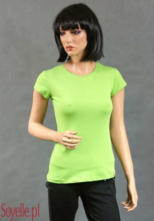 ANISA bawełniany T-shirt, gładka koszulka z krótkim rękawem, pomarańczowa, niebieska