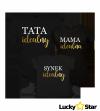 Zestaw koszulek Mama idealna, Tata idealny, Córka idealna/Synek idealny