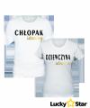 Koszulki dla Par Chłopak idealny, Dziewczyna idealna