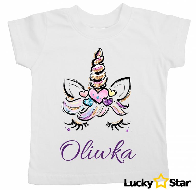 Koszulka dziecięca Jednorożec + wybrane imię