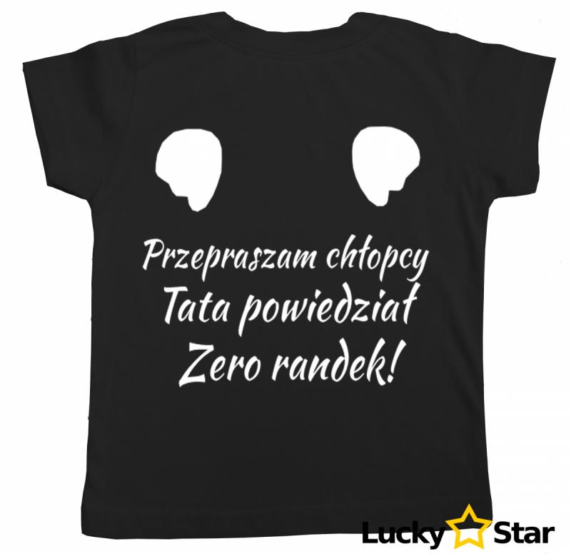 Koszulka dziecięca Zero randek!