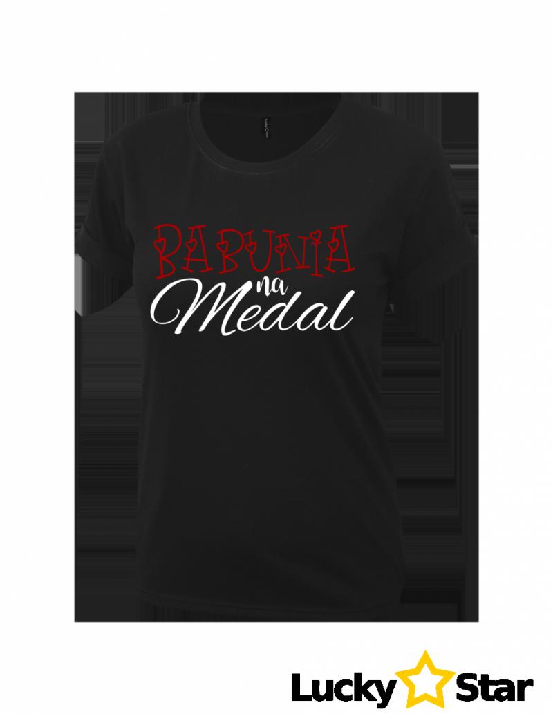 Koszulka Damska Babunia na Medal