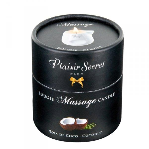 Świeca do zmysłowego masażu o zapachu kokosa
