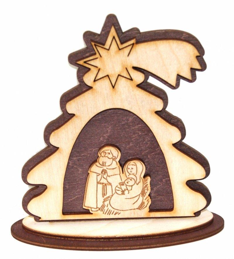 Szopka Bożonarodzeniowa drewniana 12 cm (35)