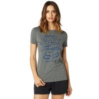 FOX T-SHIRT LADY THROTTLE MANIAC HEATHER GRAPHITE