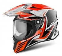 AIROH KASK INTEGRALNY COMMANDER CARBON ORANGE YELL