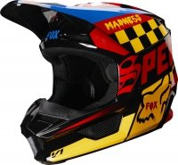 FOX KASK OFF-ROAD JUNIOR V-1 CZAR BLACK/YELLOW