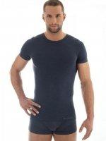 Brubeck SS11030 Koszulka męska z krótkim rękawem COMFORT WOOL ciemny jeans