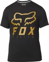 FOX T-SHIRT HERITAGE FORGER TECH BLACK/YELLOW
