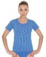 Brubeck SS11570 Koszulka damska z krótkim rękawem FUSION niebieski