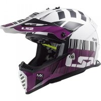KASK LS2 MX437 FAST EVO XCODE WHITE VIOLET