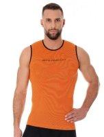 Brubeck SL10290 Bezrękawnik męski 3D Run PRO pomarańczowy