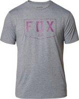 FOX T-SHIRT SHIELD TECH HEATHER GRAPHITE