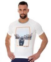 Brubeck SS13240A Koszulka męska City Air biały - niedźwiedź