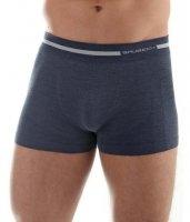 Brubeck BX10430 Bokserki męskie COMFORT WOOL ciemny jeans