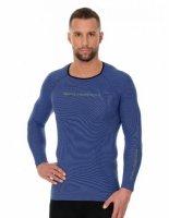 Brubeck LS13000 Koszulka męska 3D Run PRO z długim rękawem ciemnoniebieski