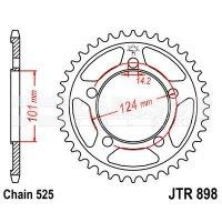 Zębatka tylna stalowa JT R898-37, 37Z, rozmiar 525 2302160 KTM Supermoto 990