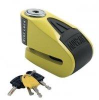 Blokada na tarczę z alarmem AUVRAY B-LOCK 06 - żółto-czarna, średnica bolca 6 mm