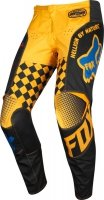FOX SPODNIE JUNIOR 180 CZAR BLACK/YELLOW
