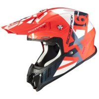 SCORPION KASK OFF-ROAD VX-16 AIR MACH NEON RED-WH