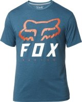 FOX T-SHIRT HERITAGE FORGER TECH HEATHER MAUI BLU