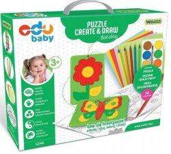Puzzle CREATE&DRAW Garden EDU BABY WADER 42140