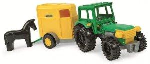 Traktor Farmer z przyczepą z konikiem