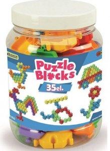 Klocki Puzzle słoik  35 szt.